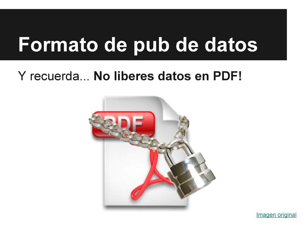 Formato de pub de datos Y recuerda... No libere...