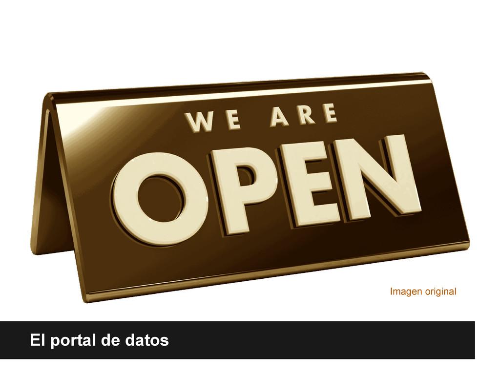 El portal de datos Imagen original