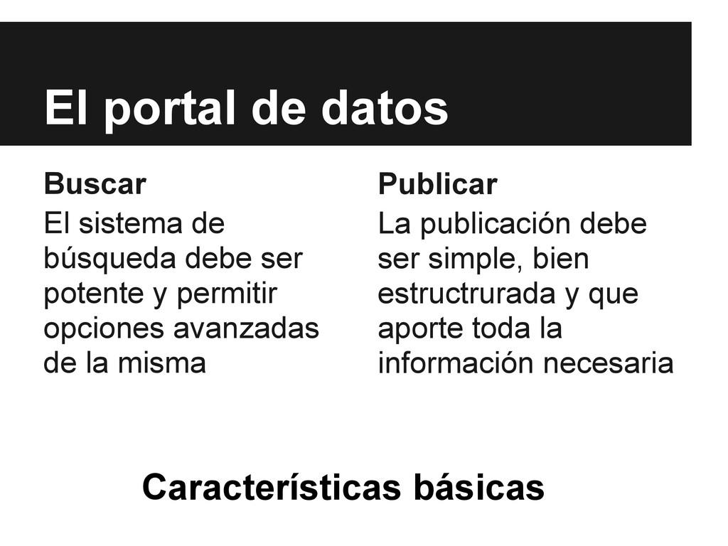 El portal de datos Buscar El sistema de búsqued...
