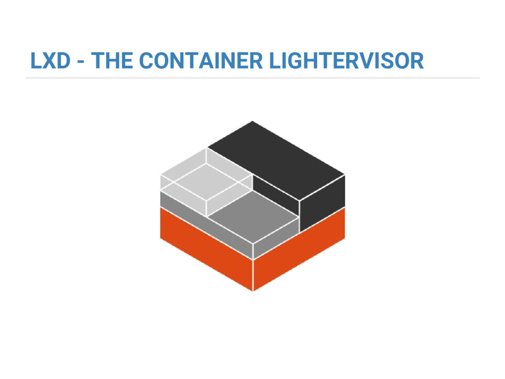 LXD - THE CONTAINER LIGHTERVISOR