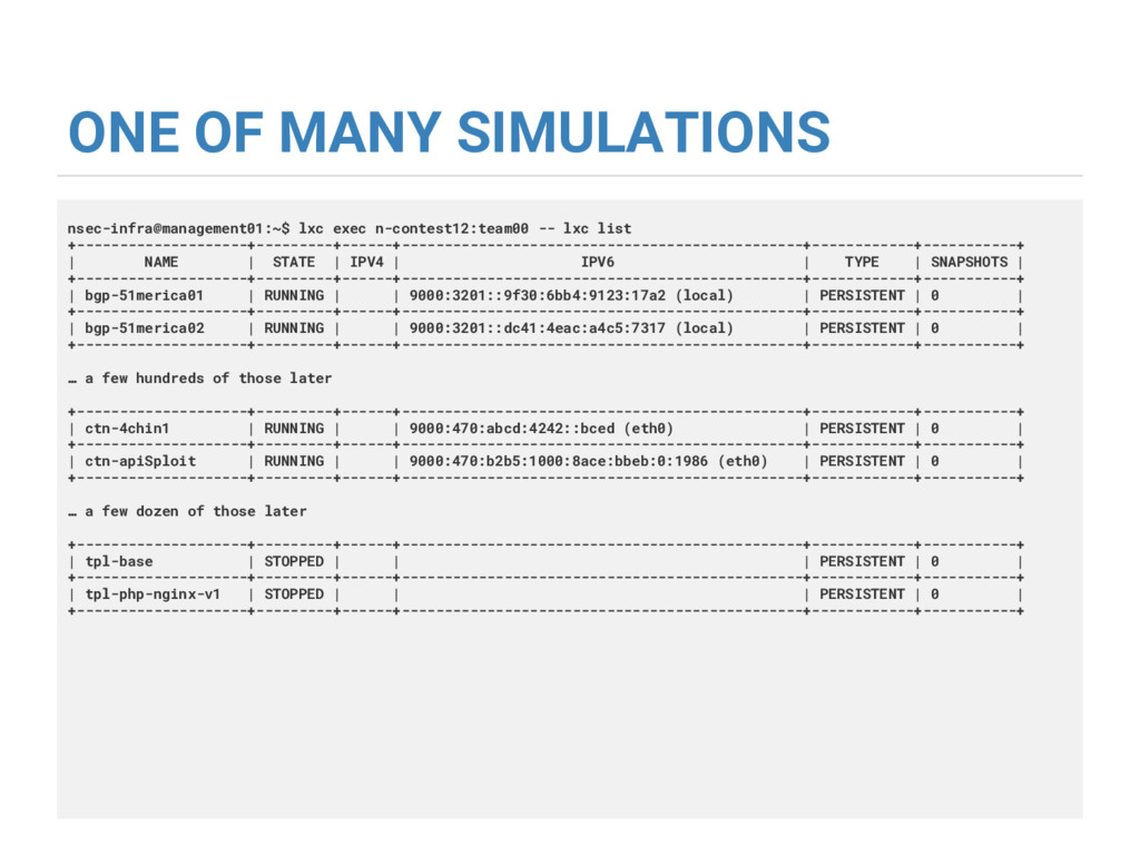 ONE OF MANY SIMULATIONS nsec-infra@management01...