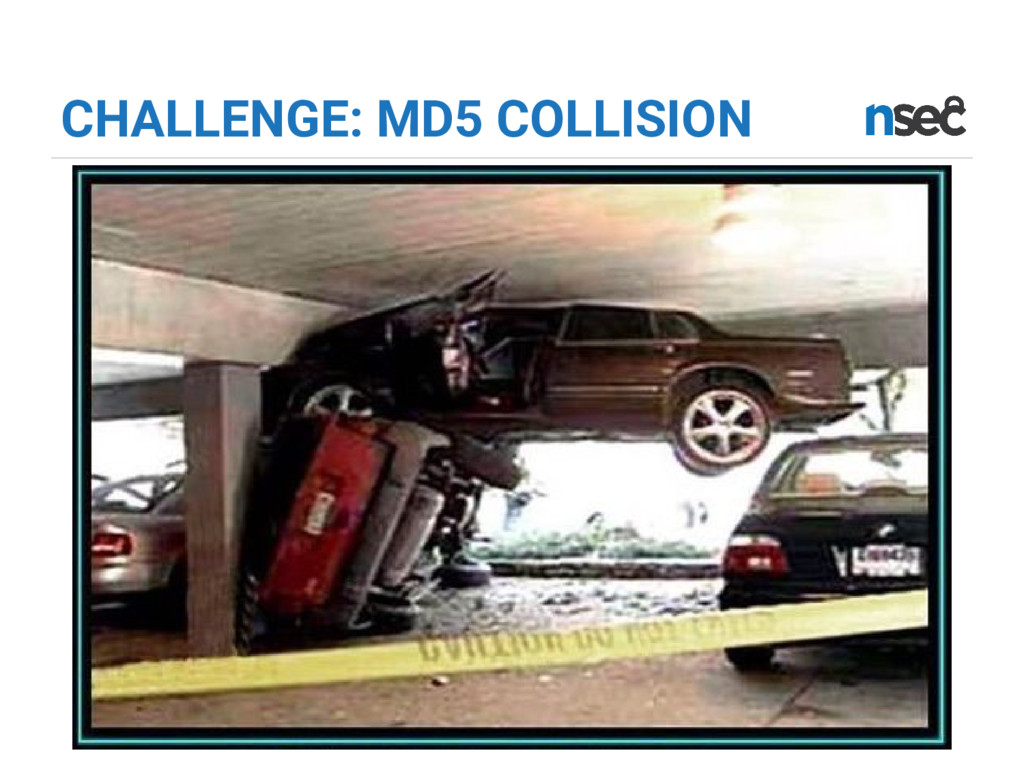 CHALLENGE: MD5 COLLISION