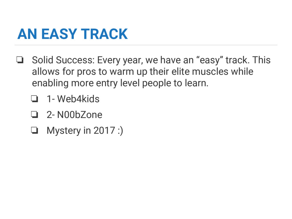 AN EASY TRACK ❏ Solid Success: Every year, we h...