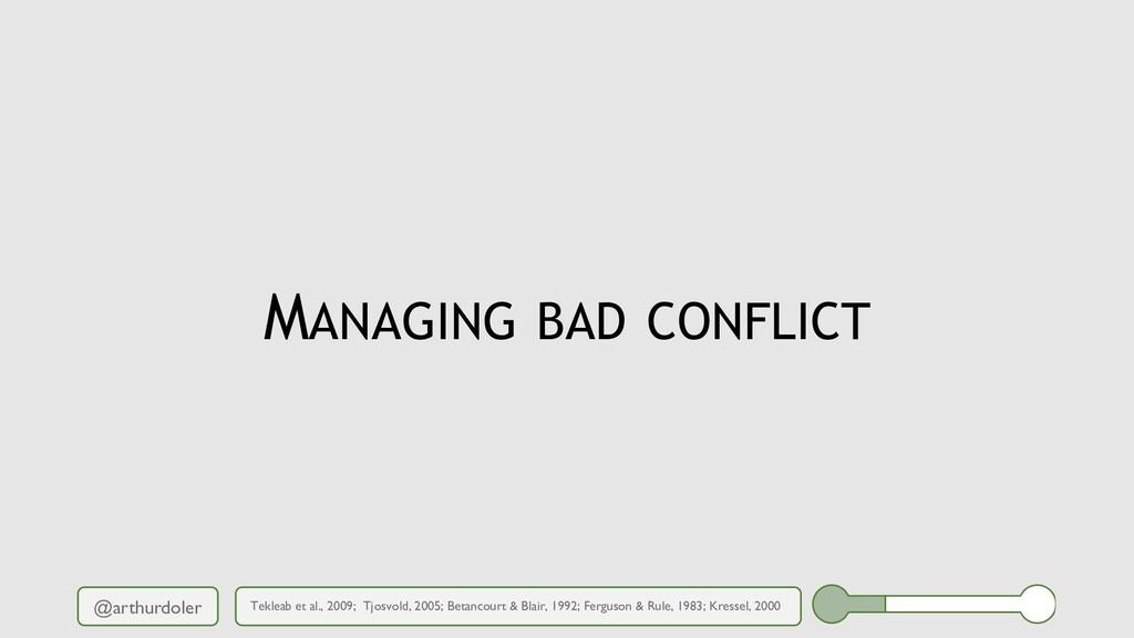 @arthurdoler MANAGING BAD CONFLICT Tekleab et a...
