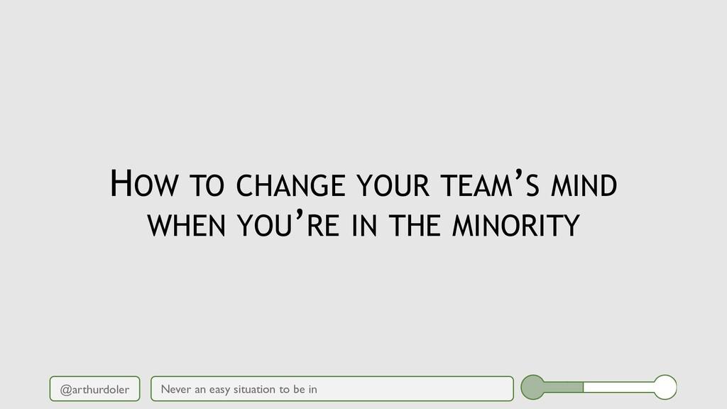 @arthurdoler HOW TO CHANGE YOUR TEAM'S MIND WHE...