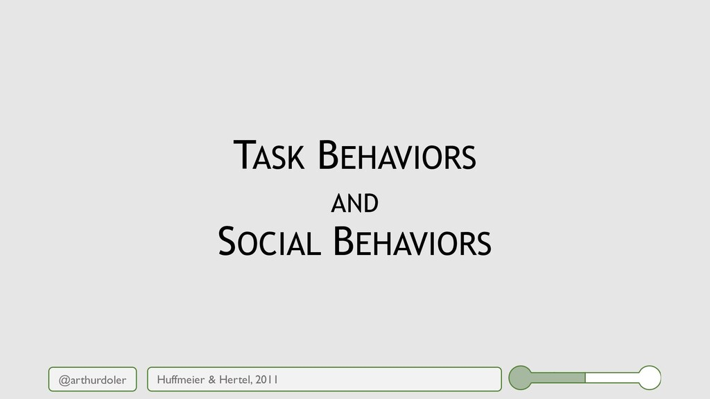 @arthurdoler TASK BEHAVIORS AND SOCIAL BEHAVIOR...