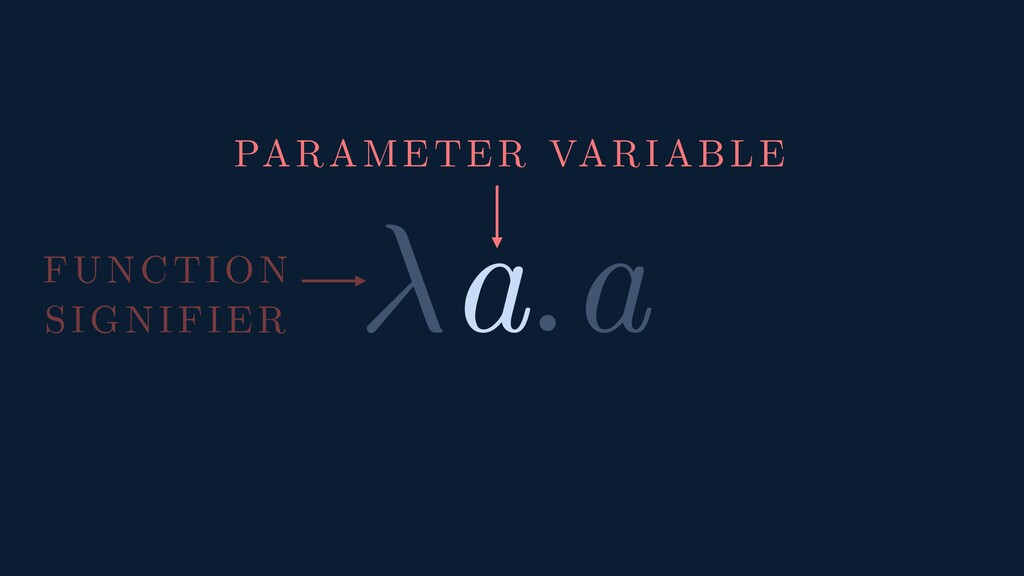 a.a FUNCTION SIGNIFIER PARAMETER VARIABLE