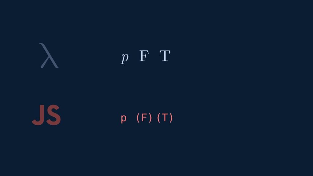 λ JS p F T F T p ( ) ( )