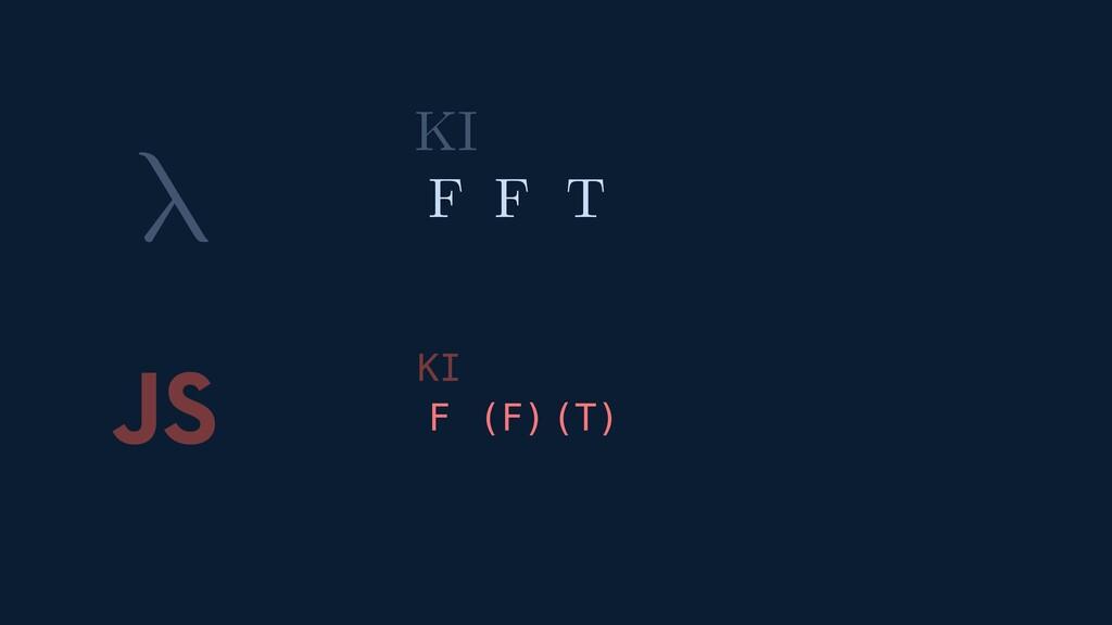 λ JS ( ) ( ) F F T F T F KI KI