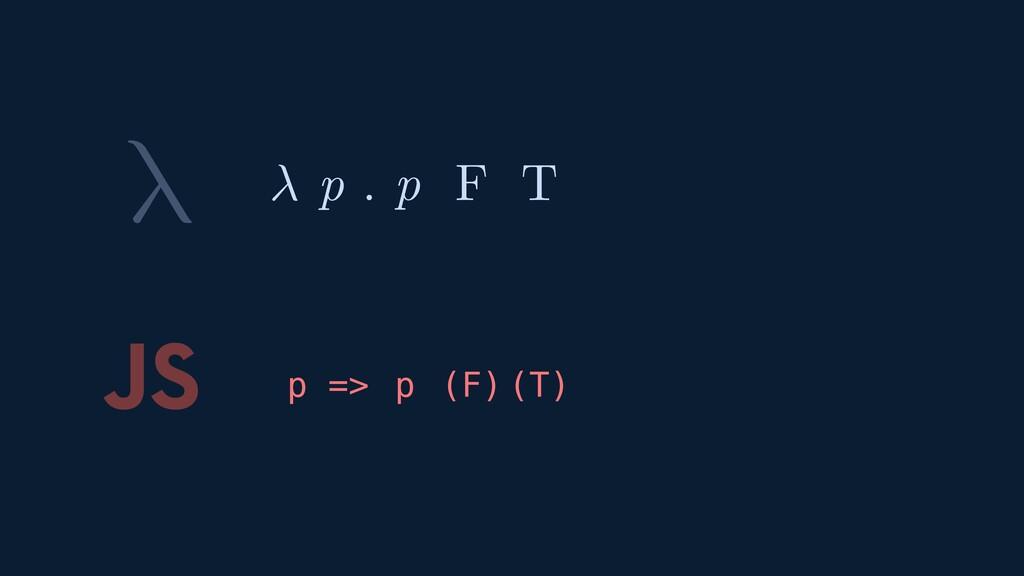 λ JS p F T F T p ( ) ( )  p . p =>