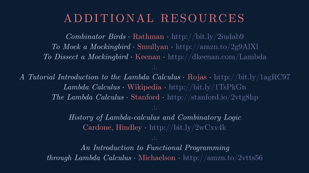 ADDITIONAL RESOURCES Combinator Birds · Rathman...