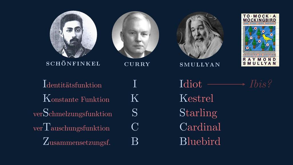 SCHÖNFINKEL CURRY SMULLYAN Identitätsfunktion K...