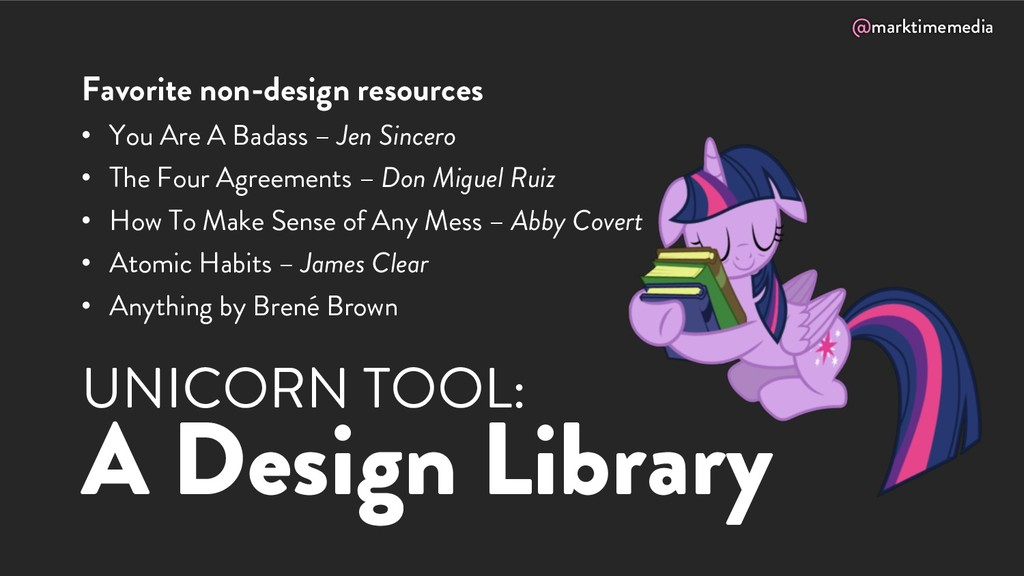 @marktimemedia UNICORN TOOL: A Design Library F...