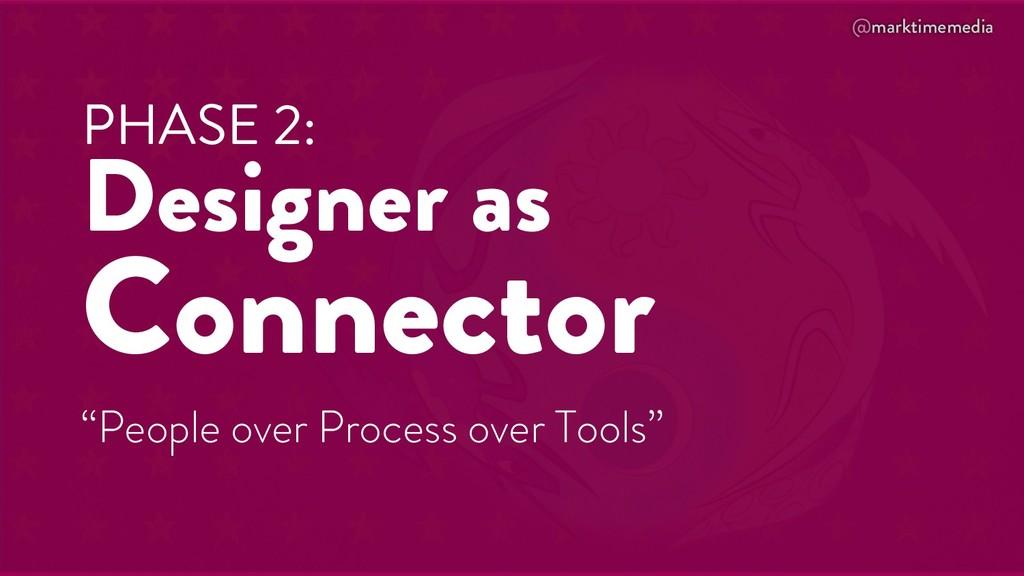 "@marktimemedia PHASE 2: Designer as Connector ""..."