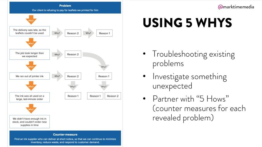 @marktimemedia USING 5 WHYS • Troubleshooting e...