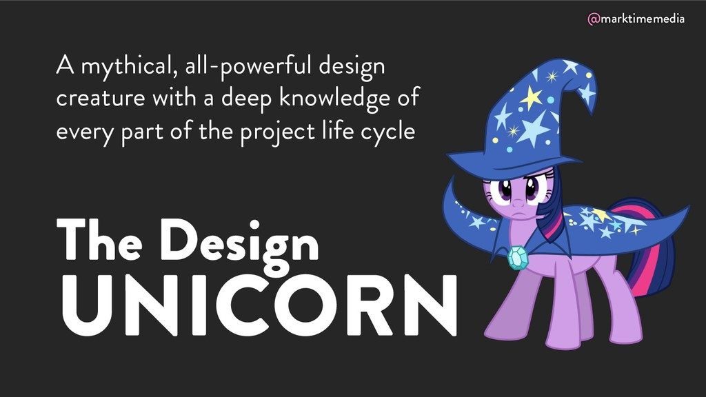 @marktimemedia The Design UNICORN A mythical, a...