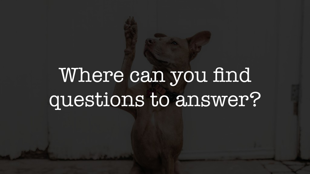 Where can you find questions to answer?