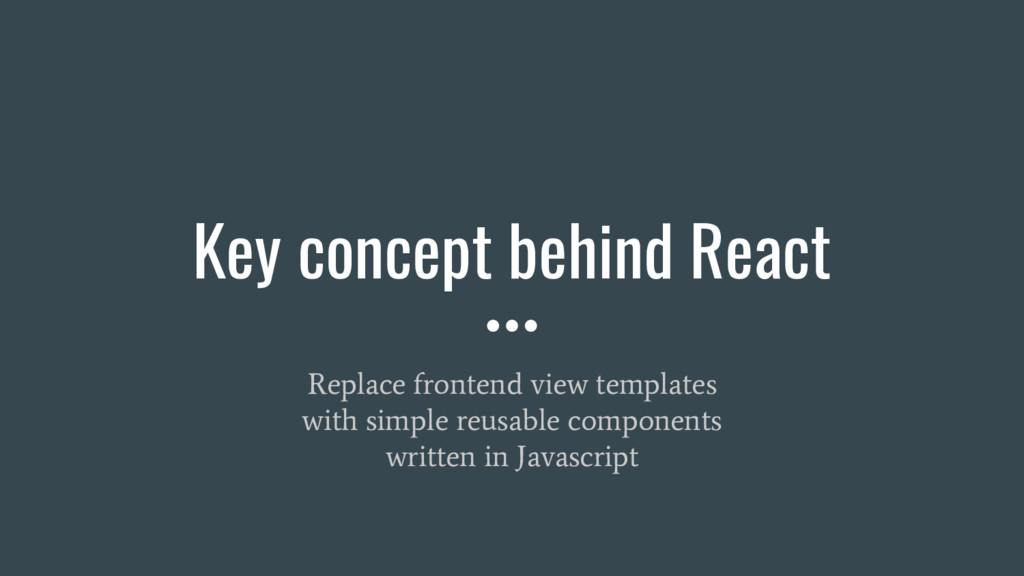 Key concept behind React Replace frontend view ...