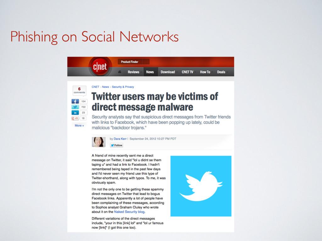 Phishing on Social Networks
