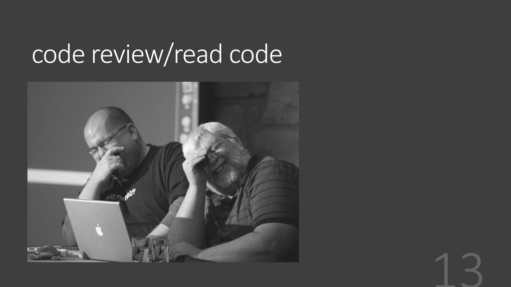 code review/read code