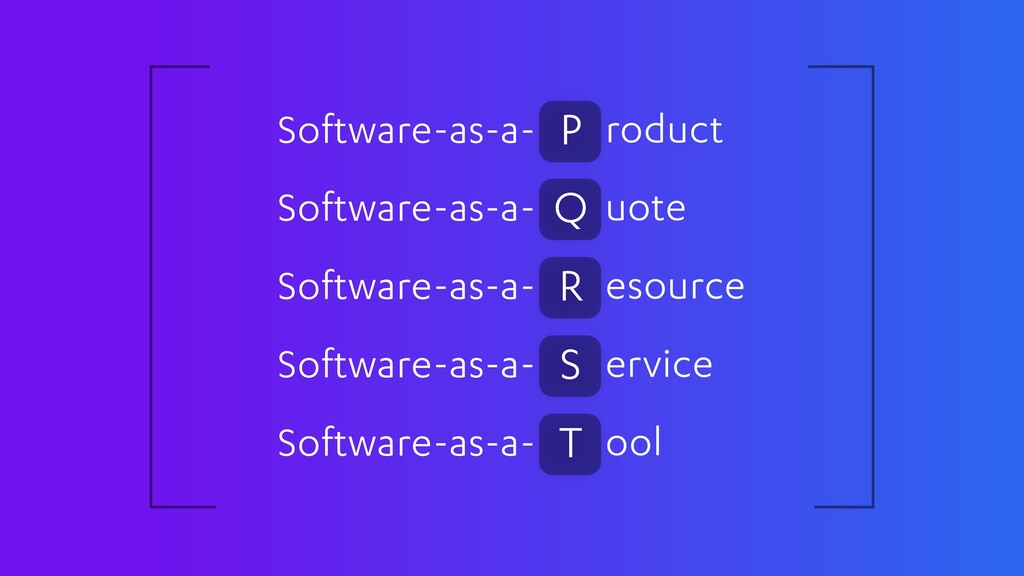Software-as-a- roduct P Software-as-a- uote Q S...