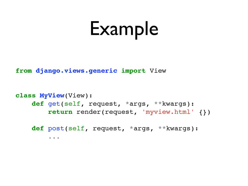 Example from django.views.generic import View! ...