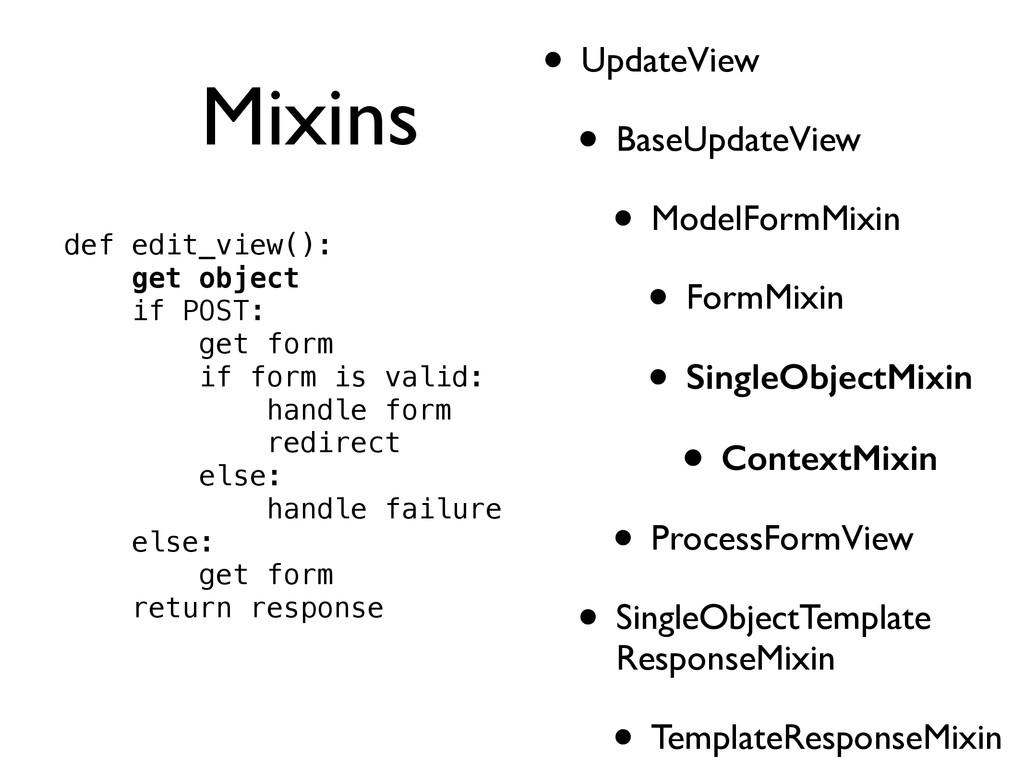Mixins • UpdateView  • BaseUpdateView  • Mo...