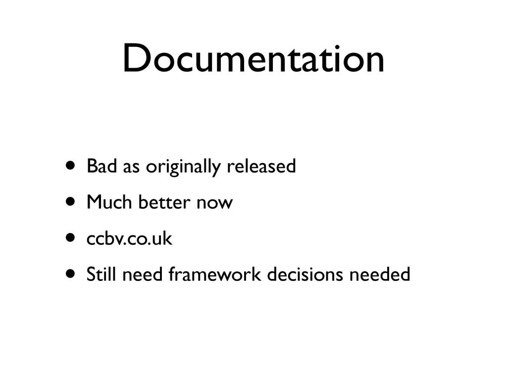 Documentation • Bad as originally released  •...