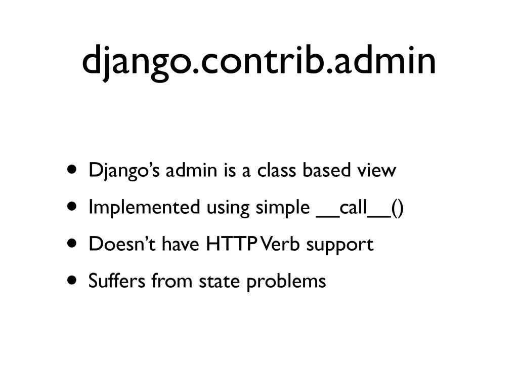 django.contrib.admin • Django's admin is a clas...