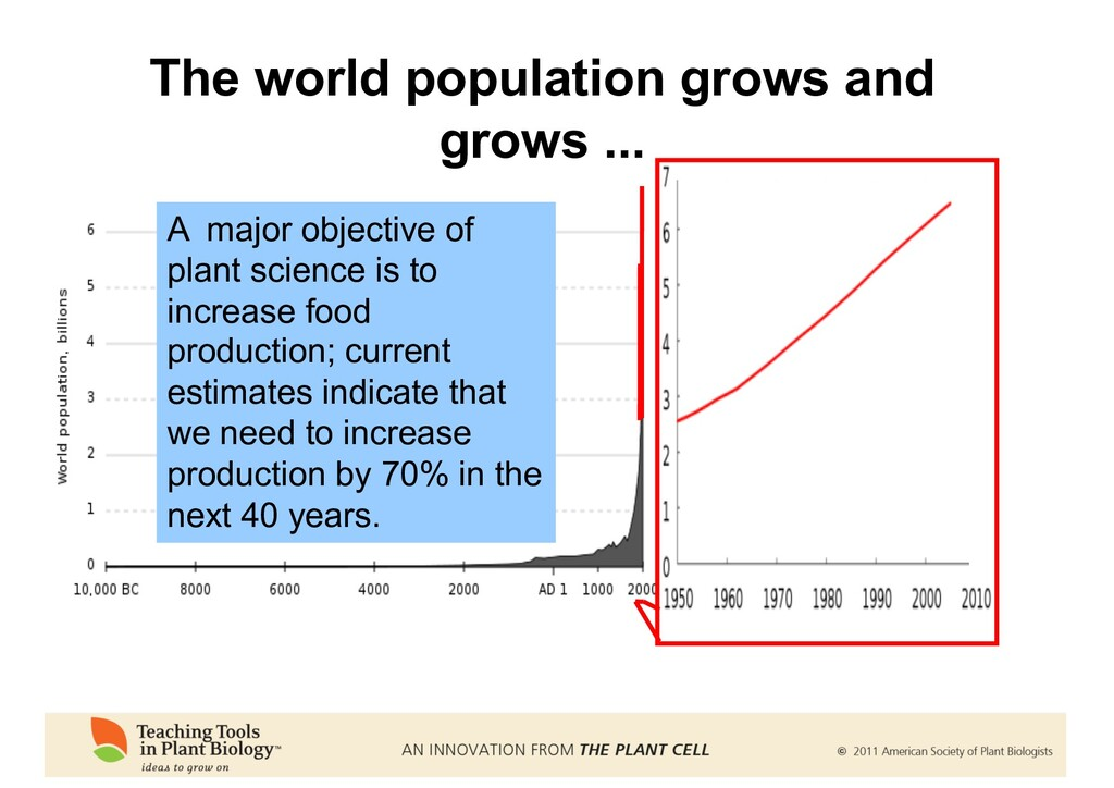 The world population grows and grows ... A majo...