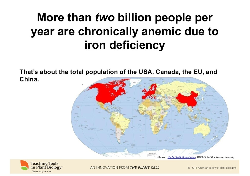 That's about the total population of the USA, C...