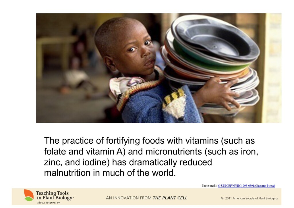 The practice of fortifying foods with vitamins ...