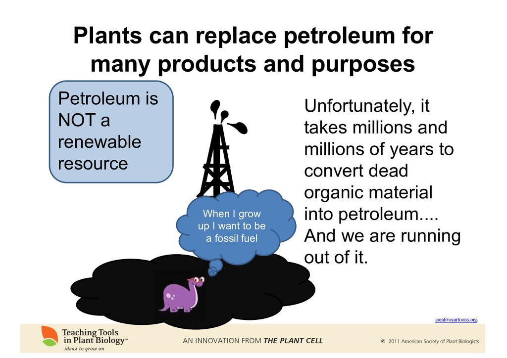Plants can replace petroleum for many products ...