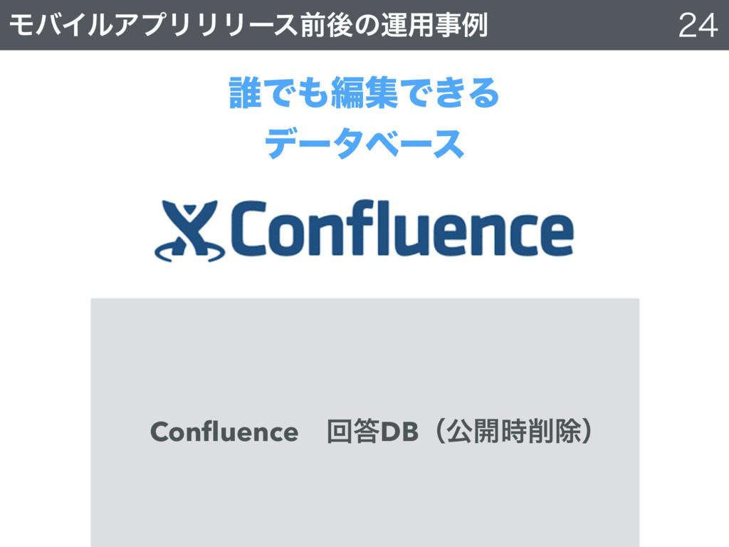 ϞόΠϧΞϓϦϦϦʔεલޙͷӡ༻ྫ ୭ͰฤूͰ͖Δ σʔλϕʔε Confluence...