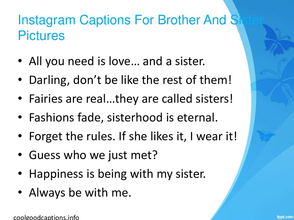 Instagram Captions For Brother And Sister Pictu...