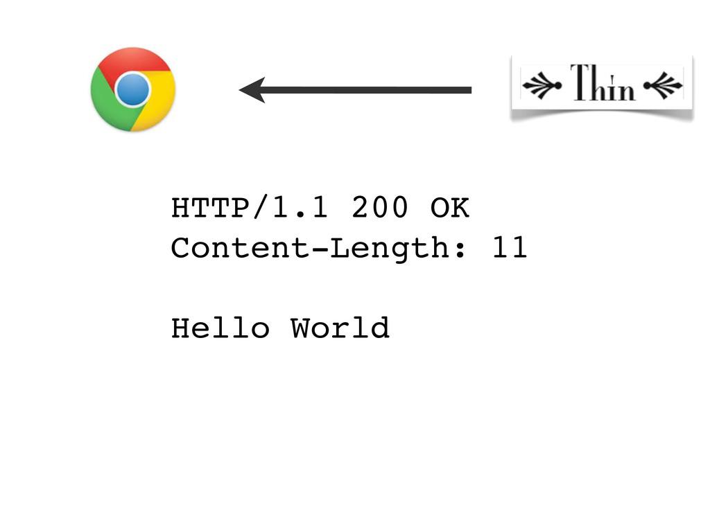 HTTP/1.1 200 OK Content-Length: 11 Hello World