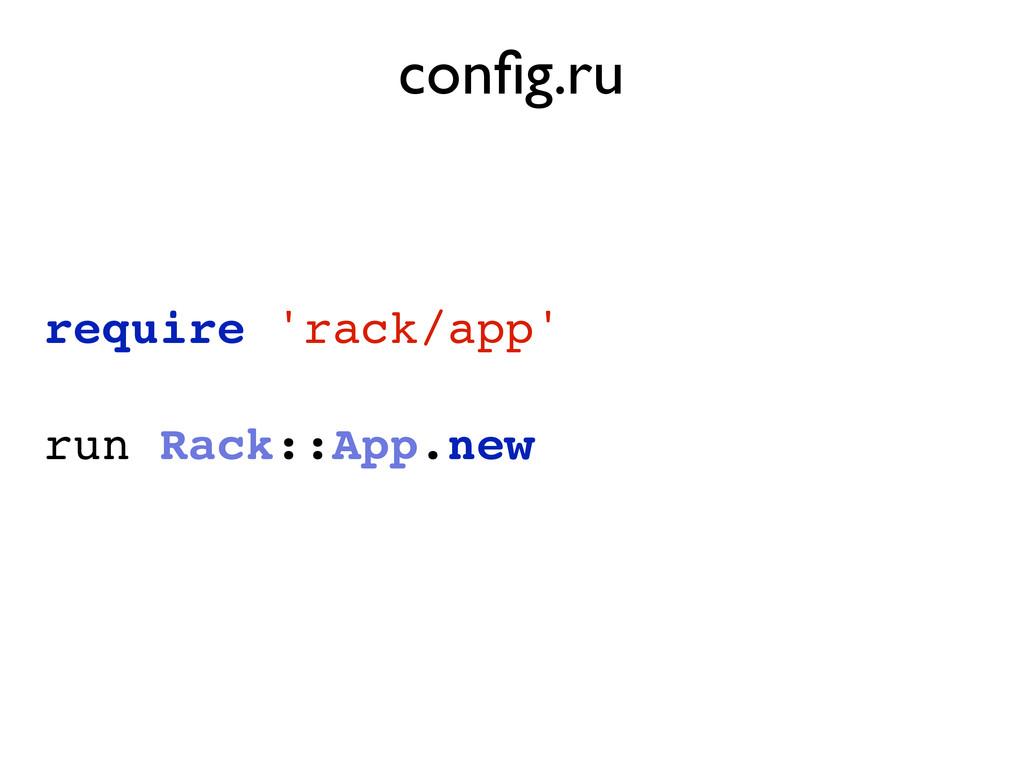 require 'rack/app' run Rack::App.new config.ru