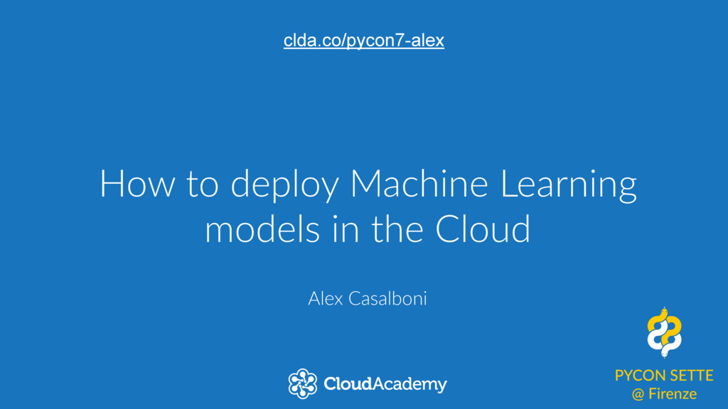 How to deploy Machine Learning  models in...