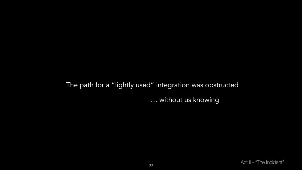 """30 Act II - """"The Incident"""" The path for a """"ligh..."""
