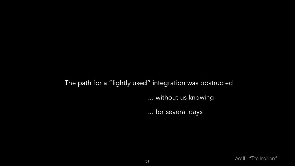 """31 Act II - """"The Incident"""" The path for a """"ligh..."""