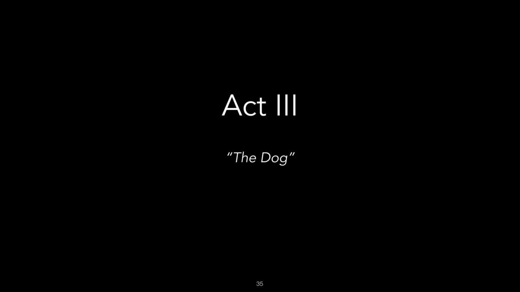 """35 Act III """"The Dog"""""""