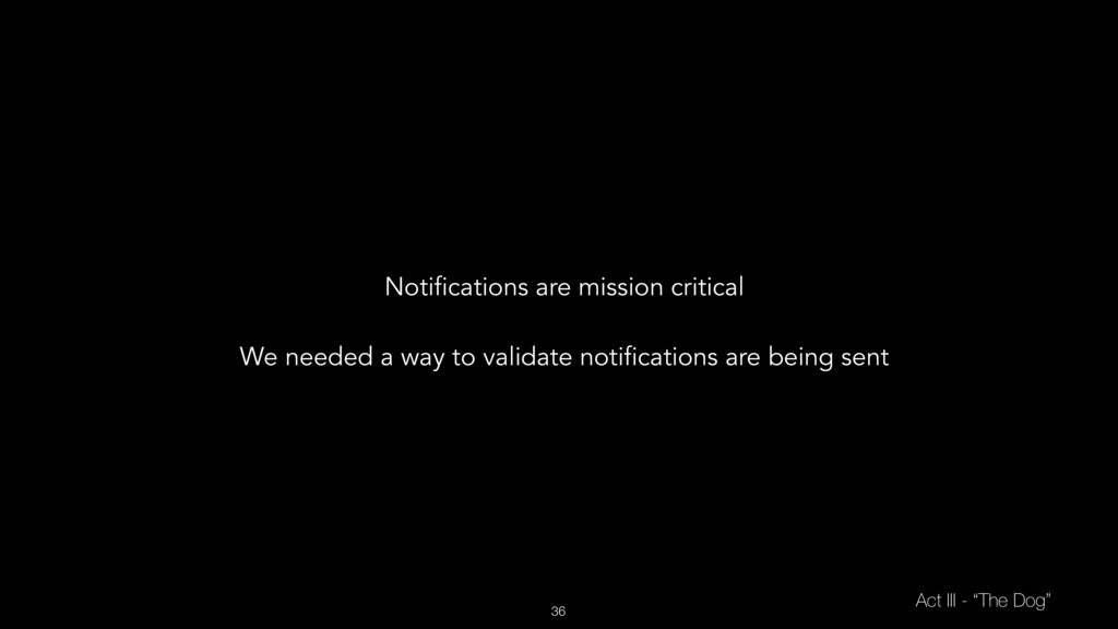 """36 Act III - """"The Dog"""" Notifications are missio..."""
