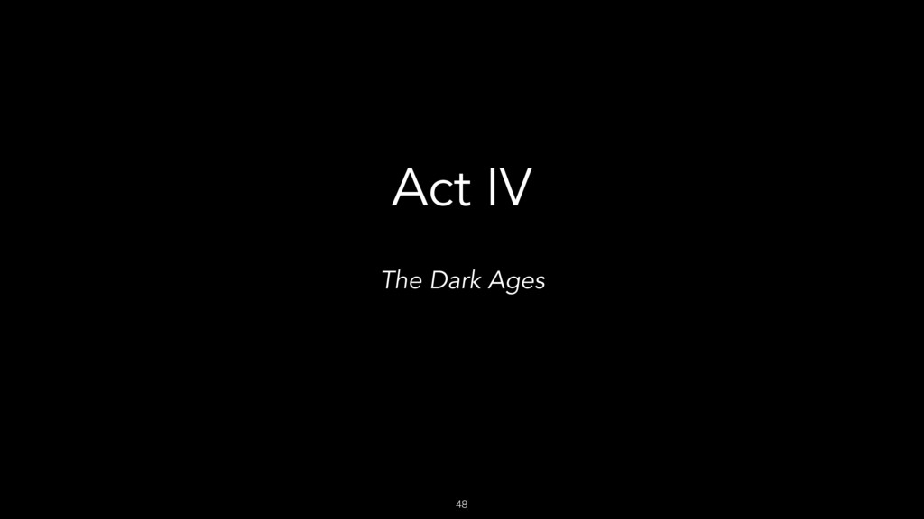 48 Act IV The Dark Ages