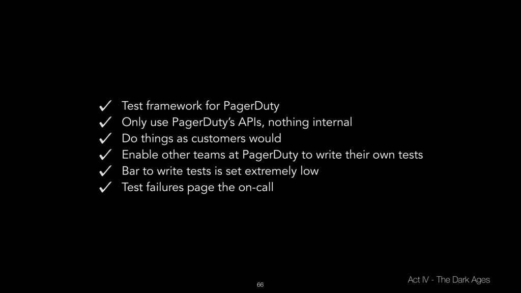 66 Test framework for PagerDuty Only use PagerD...