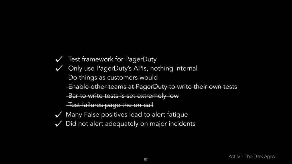 67 Test framework for PagerDuty Only use PagerD...