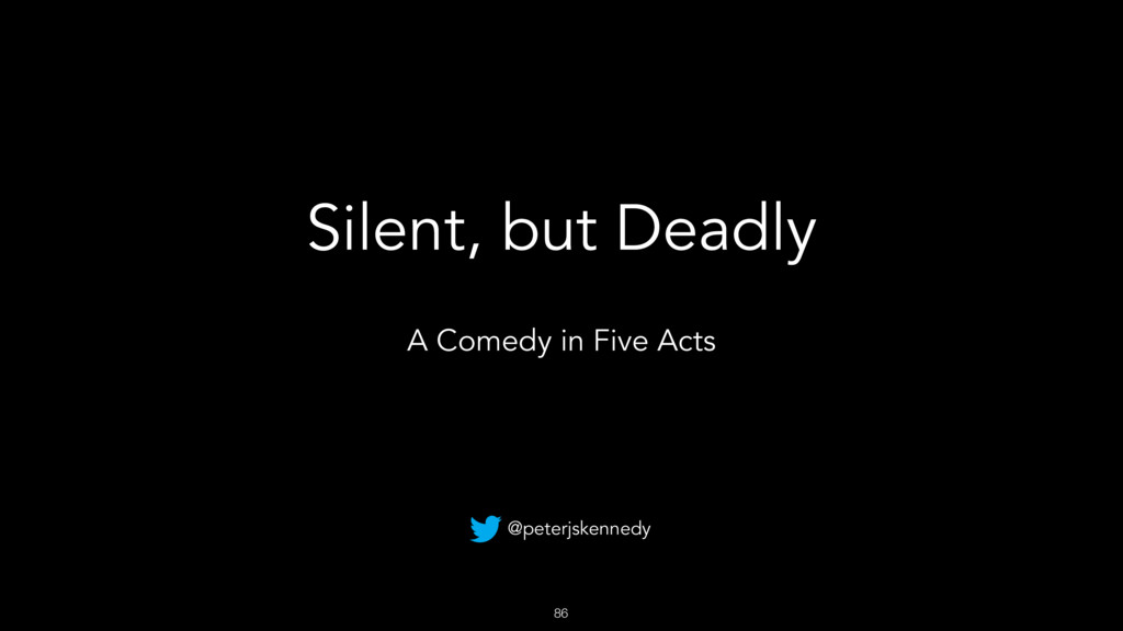 86 Silent, but Deadly A Comedy in Five Acts @pe...
