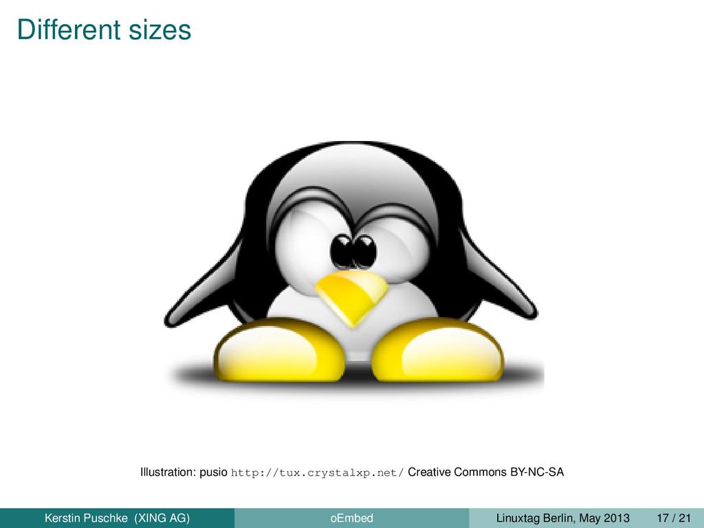 Different sizes Illustration: pusio http://tux....