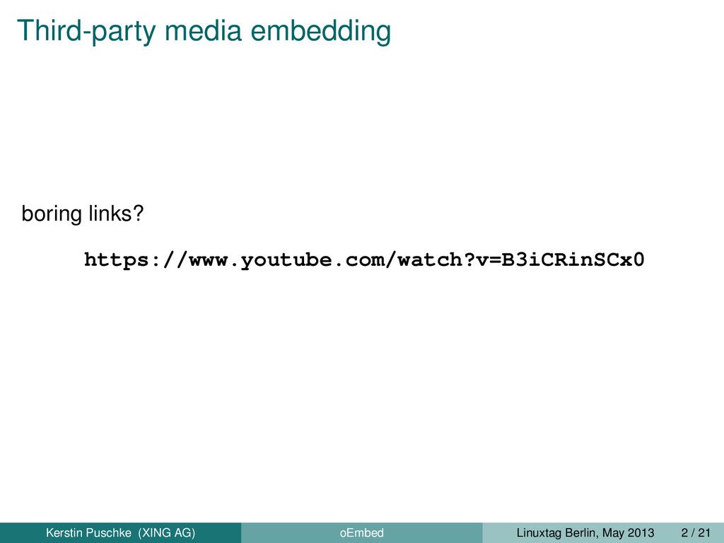 Third-party media embedding boring links? https...