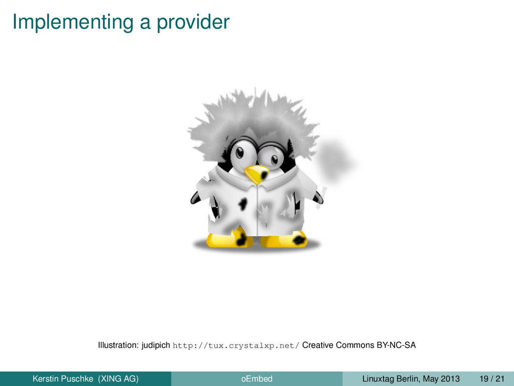 Implementing a provider Illustration: judipich ...