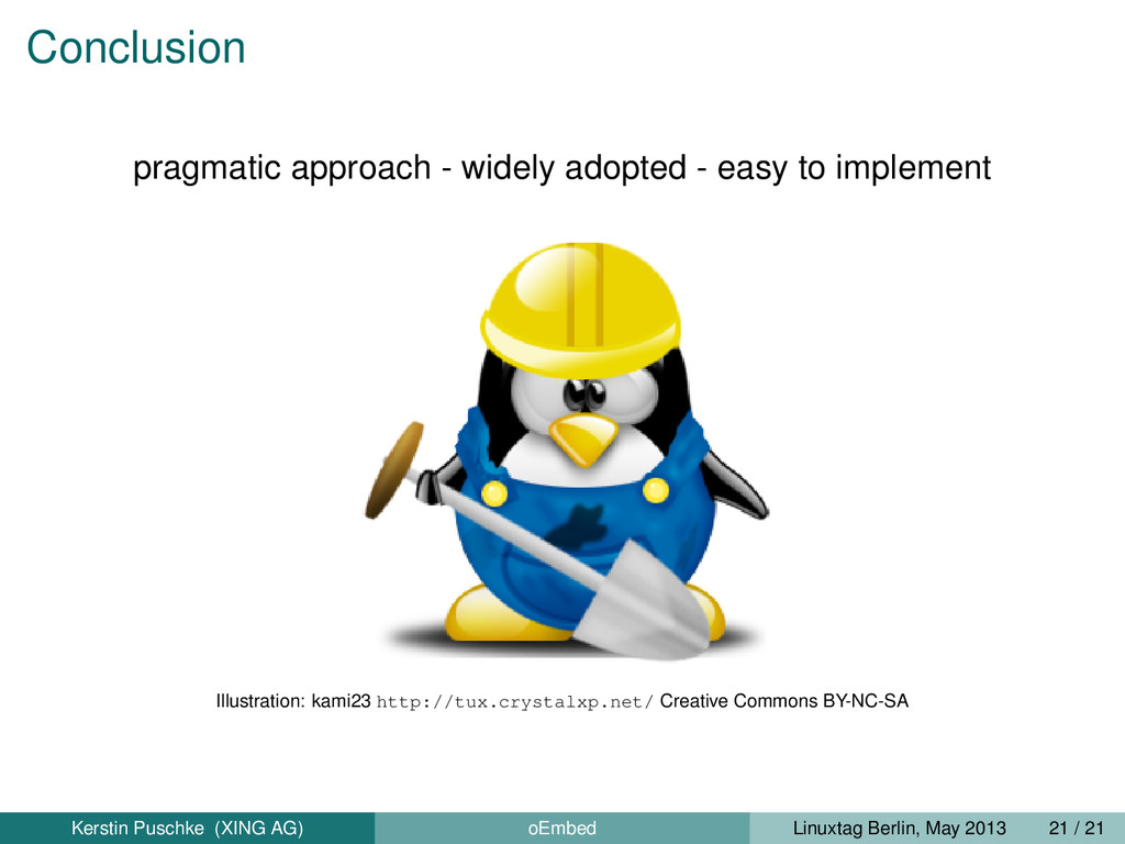 Conclusion pragmatic approach - widely adopted ...
